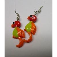 Ptáčci - Papoušci červená hrášková oranžová