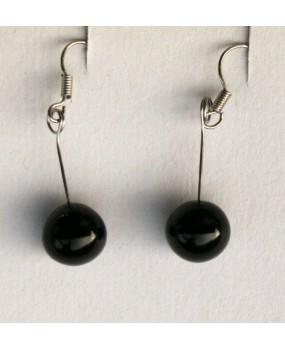 Náušnice: Kuličky černá