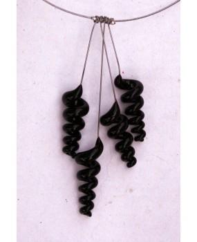 Náhrdelník: Spirálky černá