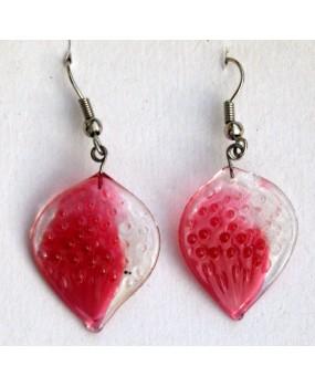 Náušnice: Placičky růžová