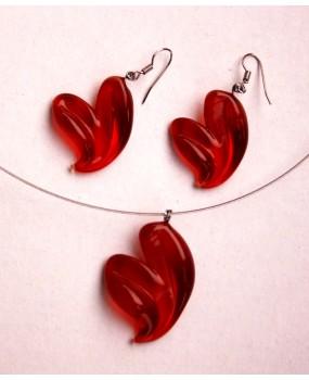 Set: Srdíčka rubín