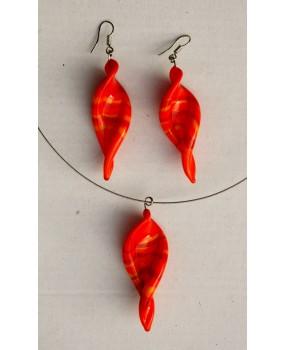 Set: Vrtulky oranžová proužky