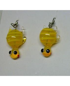 Náušnice: Želvičky žlutá