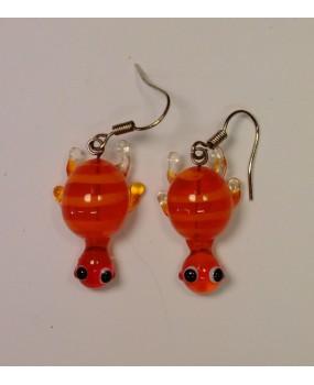 Náušnice: Želvičky oranžová