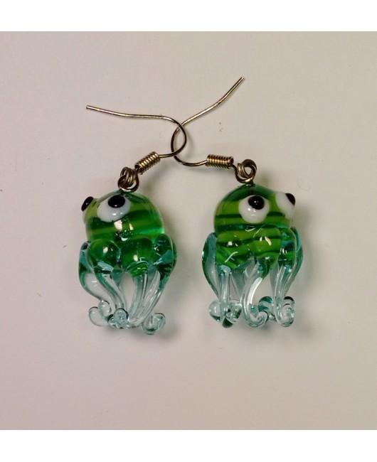 Náušnice: Chobotnice aqua