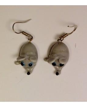 Náušnice: Myšky šedá