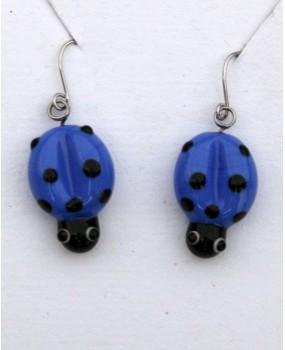 Náušnice: Berušky modrá