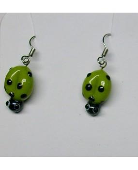 Náušnice: Berušky zelená