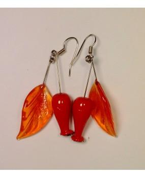 Náušnice: Šípky oranžový list