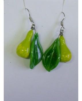 Náušnice: Hrušky zelené
