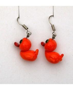 Náušnice: Kachničky oranžová