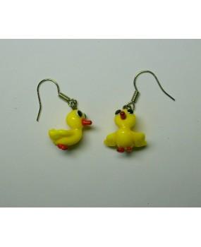 Náušnice: Ptáčci žlutá