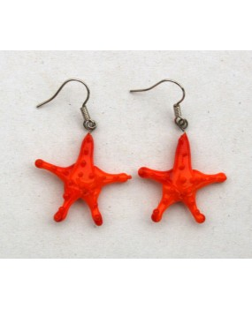 Náušnice: Hvězdice oranžová