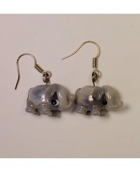 Náušnice: Sloni šedá