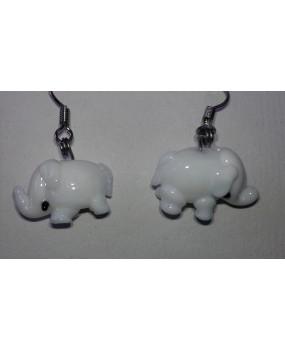 Náušnice: Sloni bílá